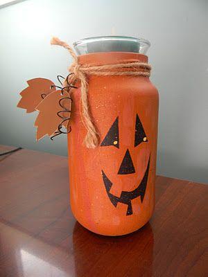Yearning to Create: Jack O'Lantern Candle Jar