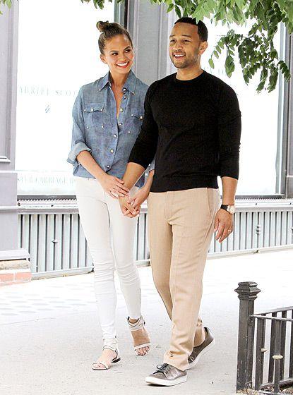John Legend and his supermodel wife Chrissy Teigen in SoHo