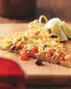 Black Bean Taco Pizza Recipe | Top & Popular Pinterest Recipes