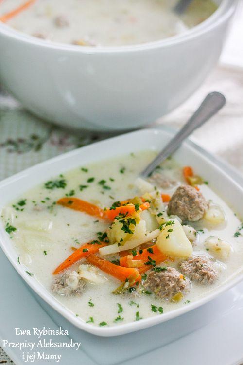 Zupa królewiecka - klopsowa (przepis kuchni żuławskiej)