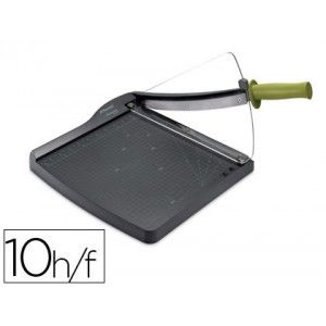 Guillotina de palanca Rexel CL-100 tamaño Din A4 con capacidad de corte de 10 hojas, perfecta para la oficina doméstica o para escritorio, protección irrompible de la cuchilla de corte, su cuchilla es de acero inoxidable y autoafilable.