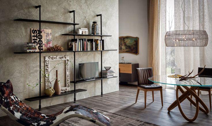 Bezpieczne lądowisko dla książek #library #livingroom #italianstyle
