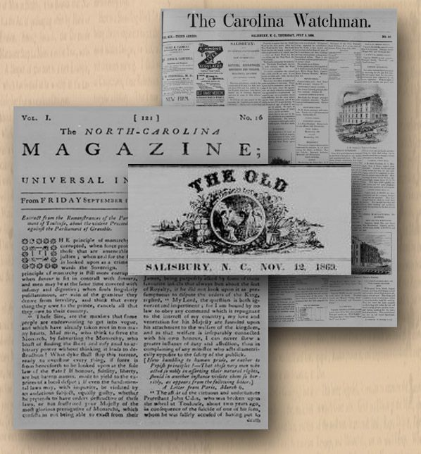 NC Newspaper Digitization Project - digitized newspapers from 1752 - 1890's