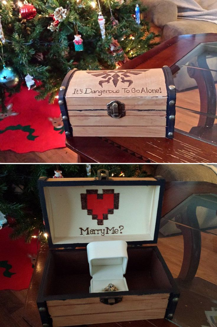 It's dangerous to go alone engagement box