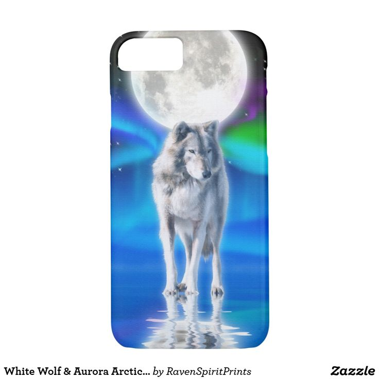 White Wolf & Aurora Arctic Wildlife Scene iPhone 8/7 Case