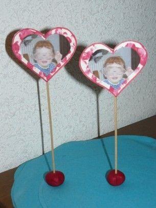 Coeur porte photo pour la fête des grands-mères
