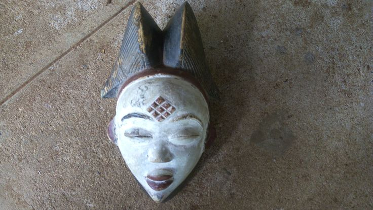 Masque africain/African mask/Afrikanische Maske/Punu Mask/African Tribal Mask/To wear/For Home Decor/ For collectors of African Art by handicraftafrica on Etsy
