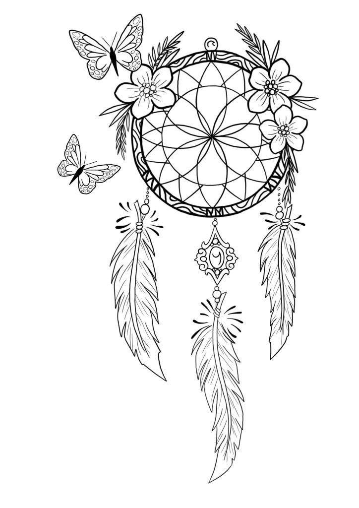 Dreamcatcher Tattoo Dreamcatcher Tattoo Dreamcatcher Tattoo Des Dream Catcher Tattoo Design Dream Catcher Coloring Pages Dream Catcher Drawing