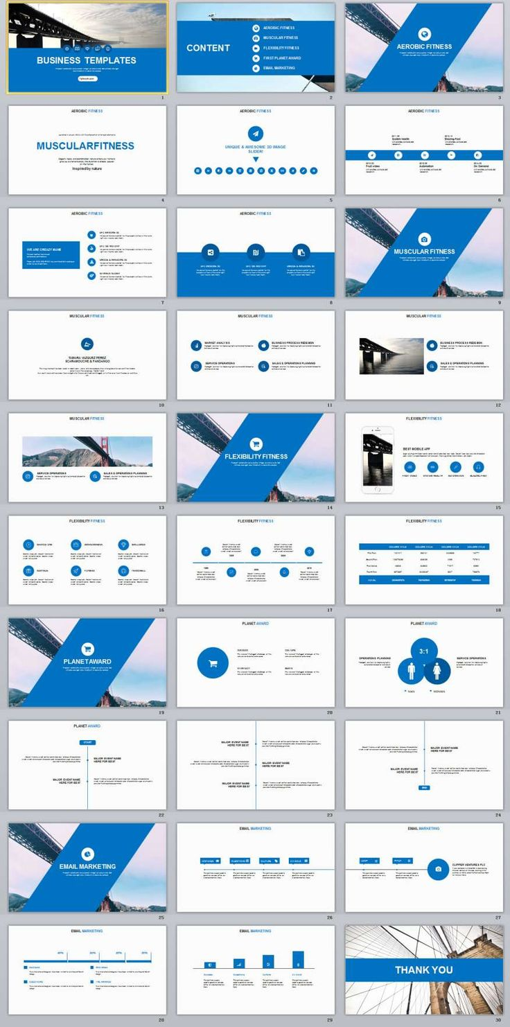 30+ Blue Annual report presentation PowerPoint templates