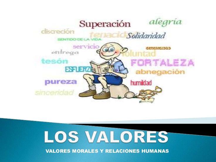 VALORES MORALES Y RELACIONES HUMANAS