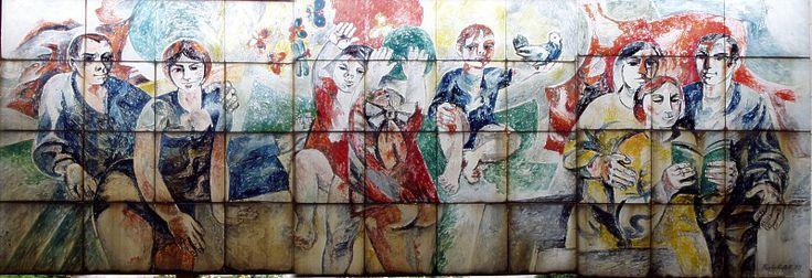 """Wandbild an der Gaststätte """"Am Tanger"""" (hinten)"""