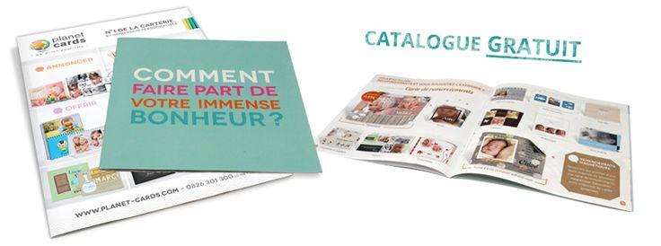 Vous pouvez désormais recevoir un catalogue de nos produits gratuitement en remplissant le formulaire sur la page dédiée à notre nouveau catalogue : http://www.planet-cards.com/demande-catalogue