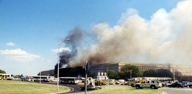 11.set.2001 - O FBI divulgou na quinta-feira (30.mar.2017) novas fotos das investigações do ataque de 11 de Setembro de 2001 contra o prédio do Pentágono, em Washington DC.