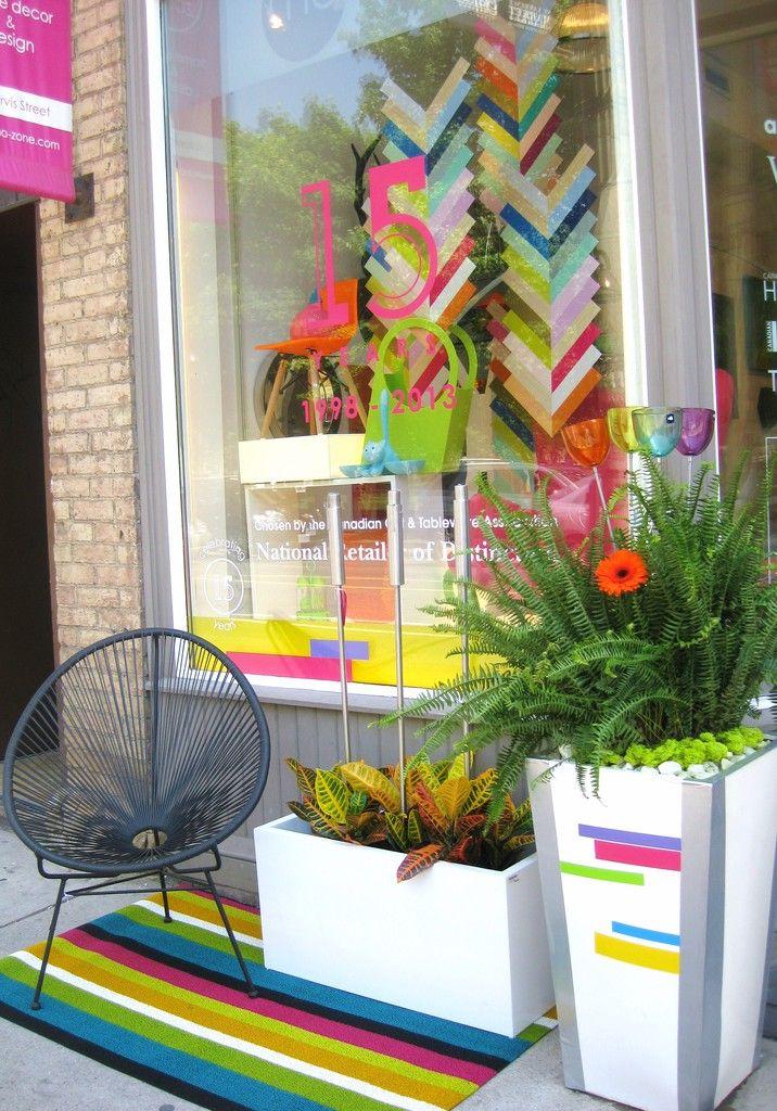 Ma zone home decor 39 s 15th anniversary window display for Home decor zone