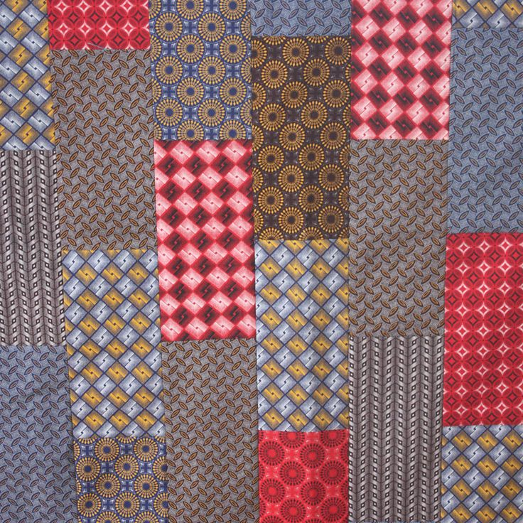 """ShweShwe Bricks, 50"""" x 59.5"""" Quilt Kit from Greenwood Quiltery"""