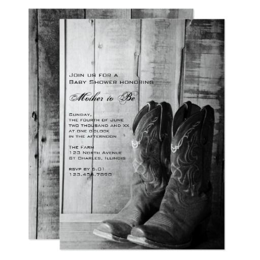 328 best Western Baby Shower Invitations images on Pinterest