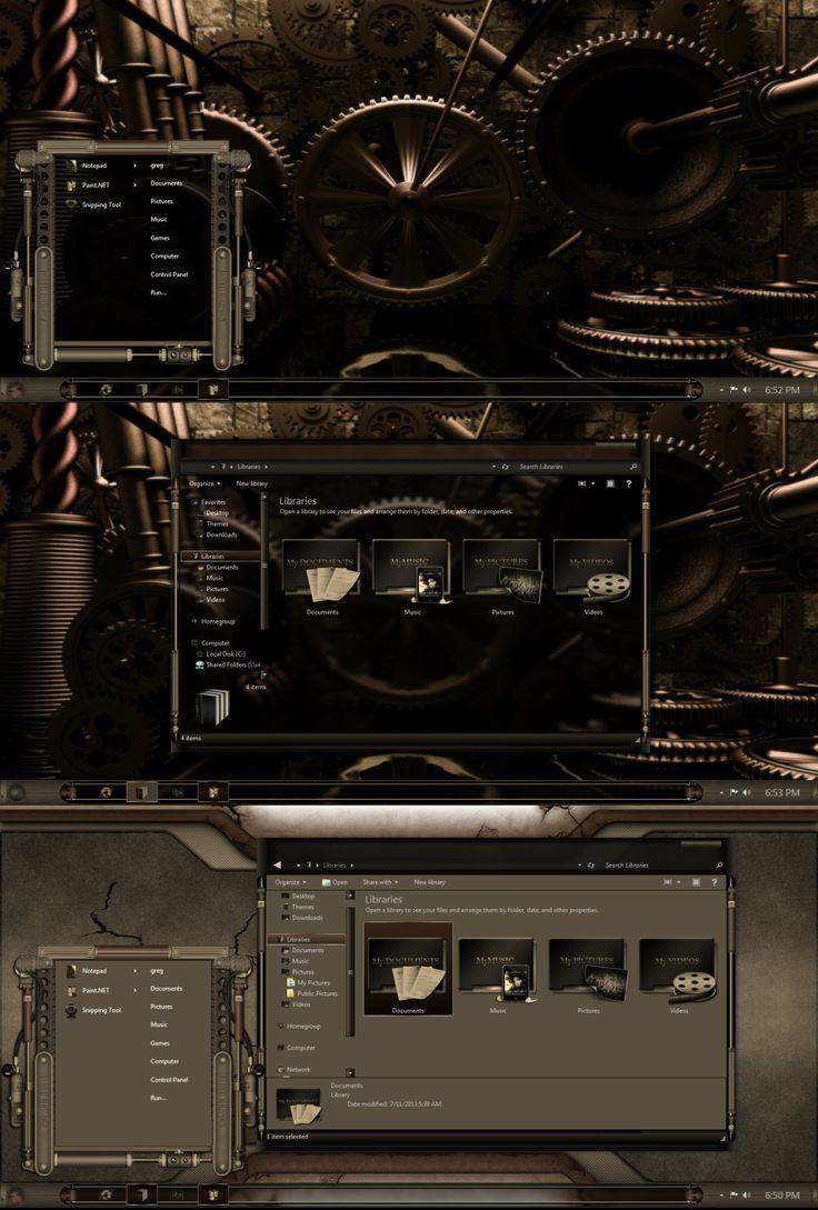 modern steampunk ui design | Mechanism-sepia by gsw953onDA on deviantART