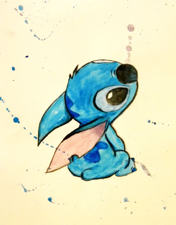 Disney's Stitch painting by IntoTheOpenAir on Etsy, $15.00