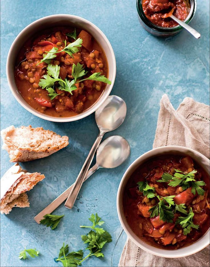 North African tomato and green lentil stew by Ian Thorpe from Cook for Your Life | Cooked
