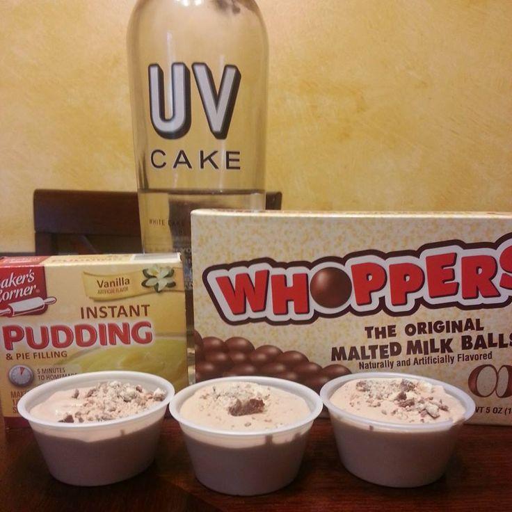 WHOPPERS PUDDING SHOTS1 Small Box Vanilla Pudding3/4C