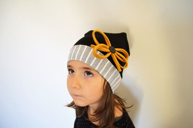 Slouchy beanie for girl in cotton ,  girl's accessories, organic cotton, winter accessories,baby girls beanie by sunflowerdesign4kids on Etsy
