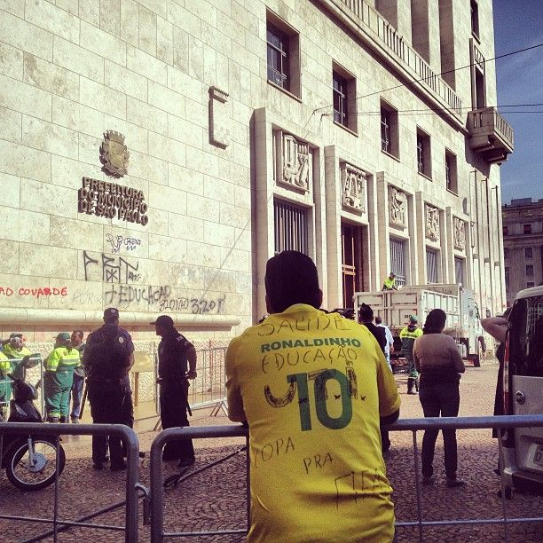 Prefeitura do Municipio de Sao Paulo (city hall) after a protest #travel #brazil