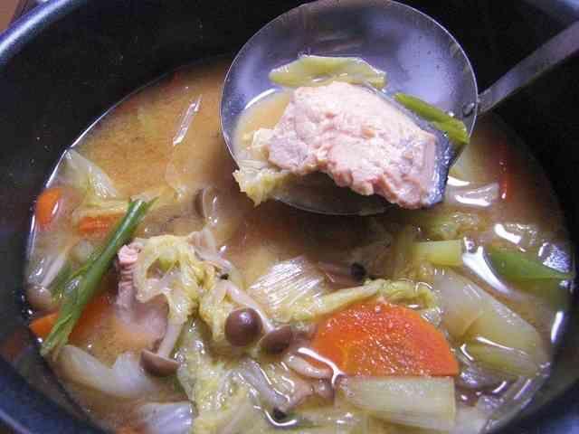 ☆鮭の味噌鍋☆~石狩鍋~の画像