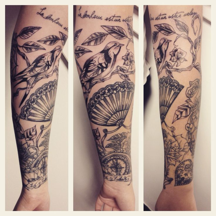 Tatouage avant bras girl • by Merries melody tattooshop 66• http://merriesmelody.com