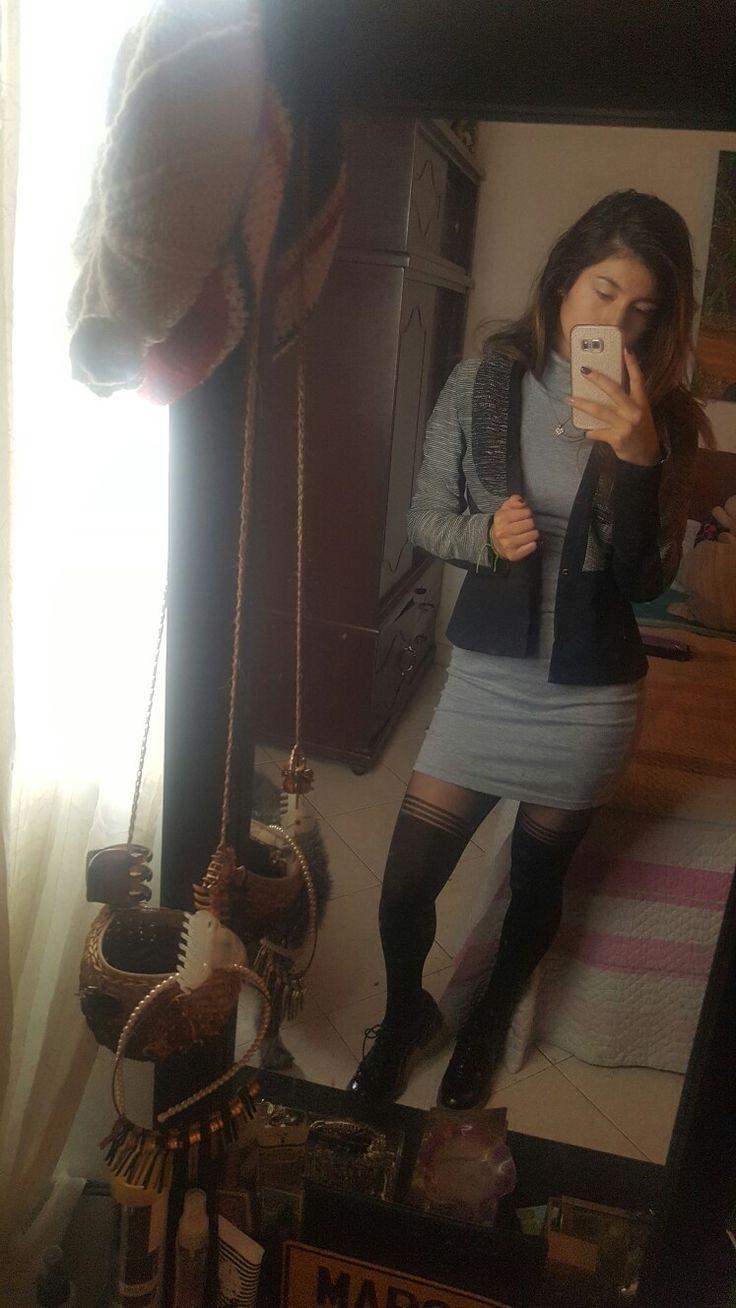#grey #gris #vestido #Ela #elegante