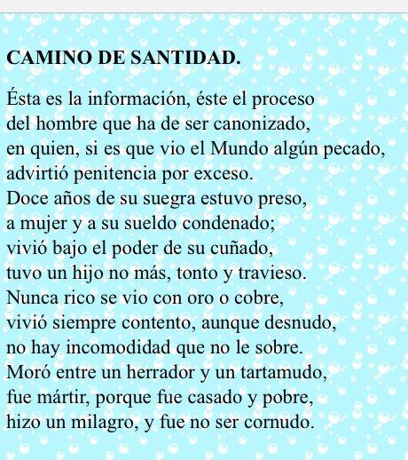 """Francisco de Quevedo  """"Camino de santidad"""""""