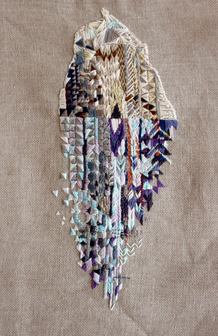 ♒ Enchanting Embroidery ♒ embroidered art | Karolin Reichardt