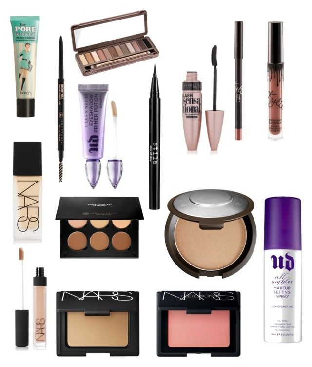 """""""Makeup look"""" by ashleycagauan on Polyvore featuring beauty, Benefit, NARS Cosmetics, Anastasia Beverly Hills, Urban Decay, Stila, Maybelline and Becca"""
