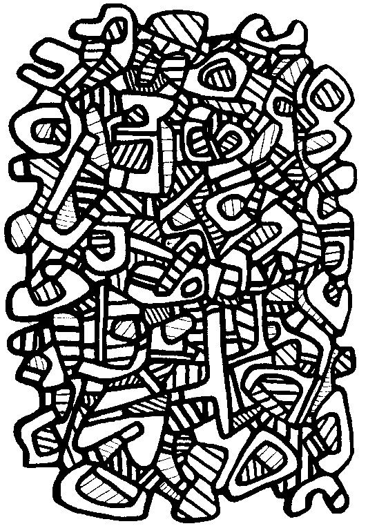 9 Best Images About Coloriages Adultes Jean Dubuffet On