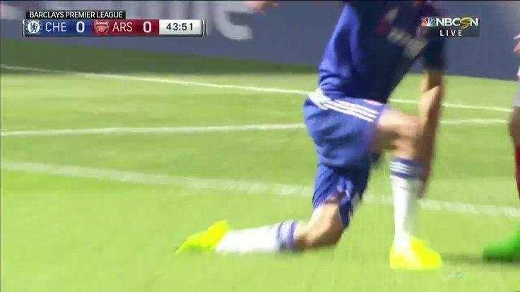 Diego Costa vs Laurent Koscielny/Gabriel - Gabriel yellow