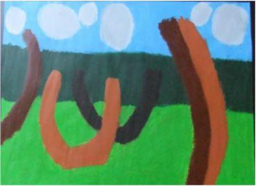 Patrick Francis - Playground 2013, acrylic on paper, 80x60cm