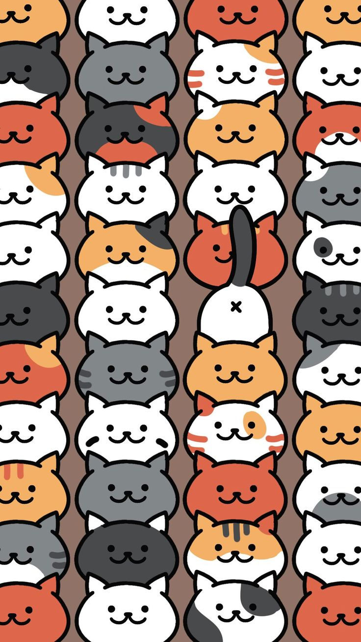 Neko Atsume Pattern. Tap to see more Neko Atsume the cat