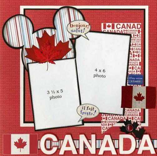 Epcot Canada Pavilion scrapbook page layout #papercraft #photos