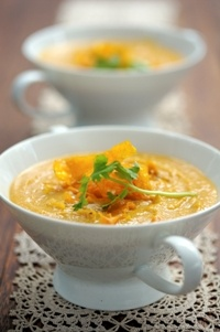 Ina Paarmans' Butternut soup  from Food from the heart. Courtesy of Lapa Publishers, photo by Adriaan Vorster