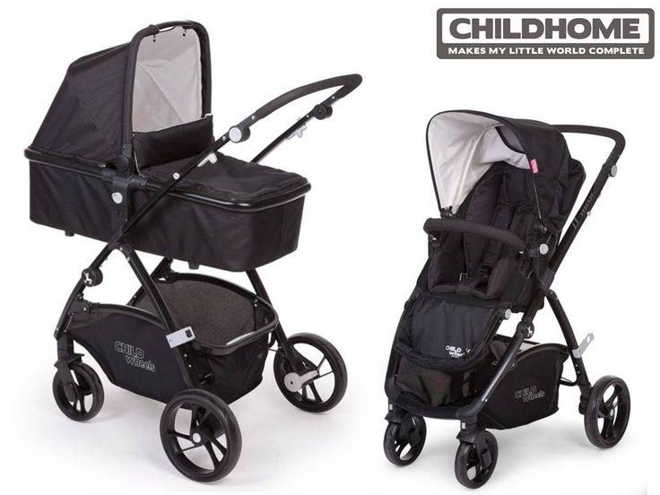 CHILDHOME Wózek wielofunkcyjny D-MAX AIR z gondolą