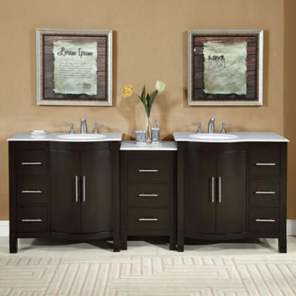 Contemporary Art Websites Accord inch Contemporary Double Sink Bathroom Vanity Set Carrara White Marble Counter top Modular Units and storage