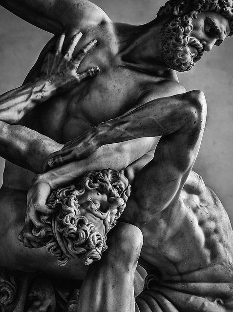 negromodelo:  Statua di ercole e il centauro nesso by maxcuo1975