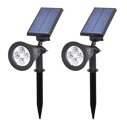 266 best landscape lighting accessories images on pinterest outdoor dcor esweethome solar powered garden spotlightwaterproof outdoor landscape degrees adjustable security white night lights with automated switch aloadofball Images