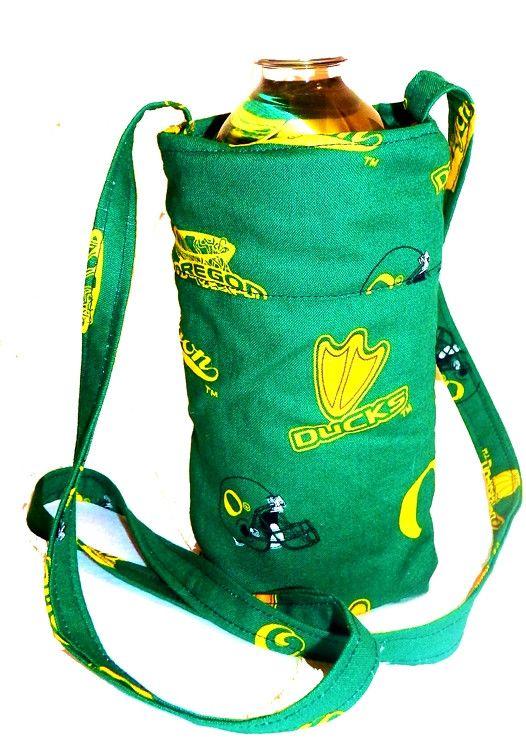 Oregon University Ducks College Football - Water Bottle Cozy, Pop Holder, Sling, Drink Cozie