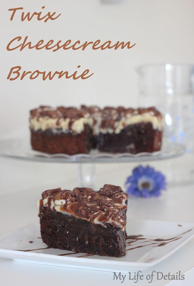 My Life of Details: Twix Cheesecream Brownie