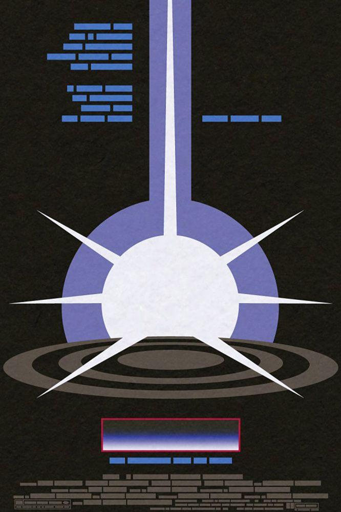 Британский дизайнер Джон Тейлор уверен: для того чтобы узнать, к какому фильму сделан постер, совсем необязательно увидеть на нем актера, знаковый предмет из фильма или фамилию режиссера. Это, например, постер к фильму «Трон».