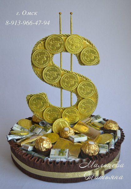 gift idea basket money ferrero rocher raffaello wedding birthday candy chocolate candy bar