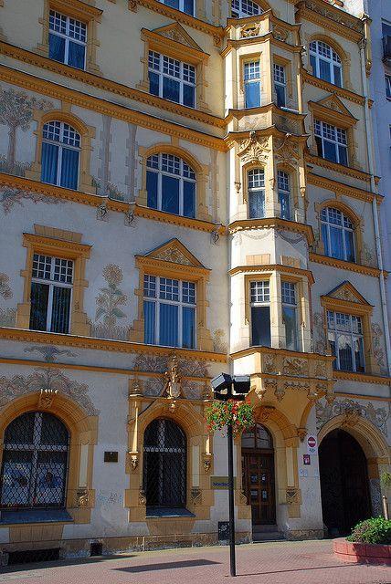 Building on Piotrkowska Street, Łódź, Poland