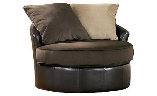 Gemini chocolate round swivel chair for the home pinterest