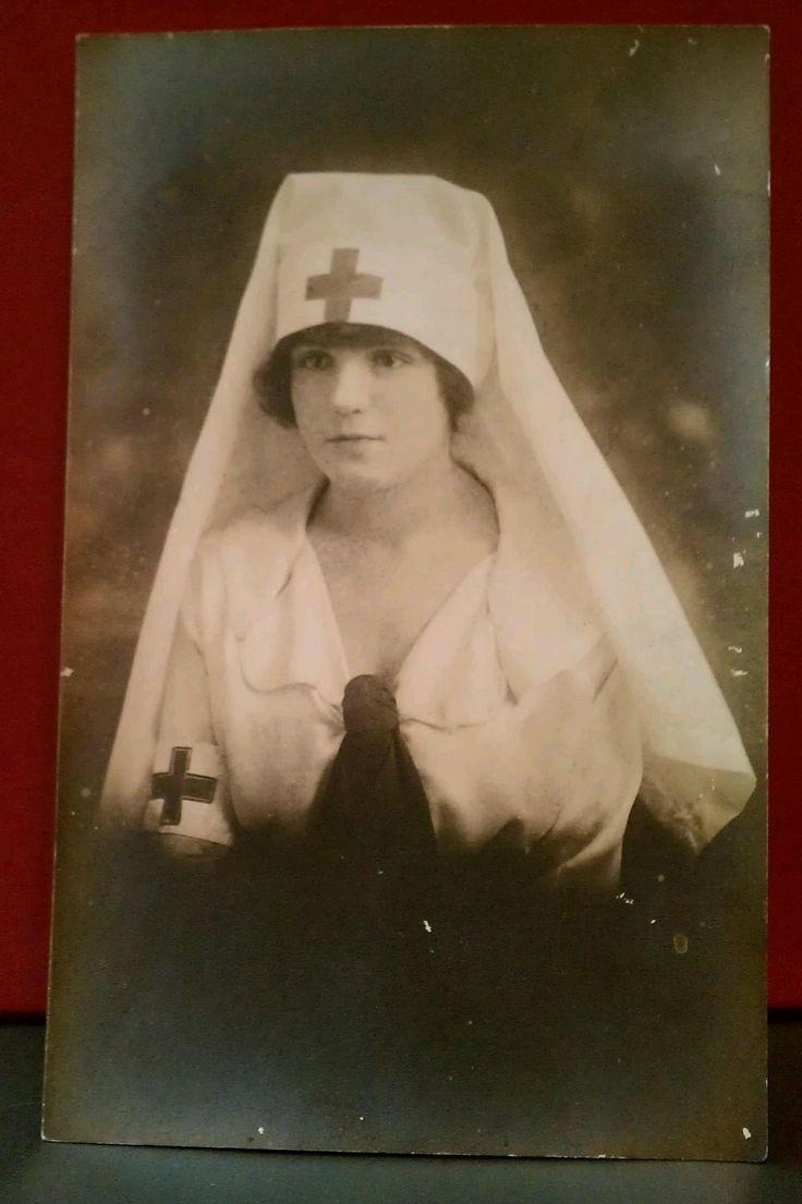 Vintage Nurse With Habit Circa 1920.