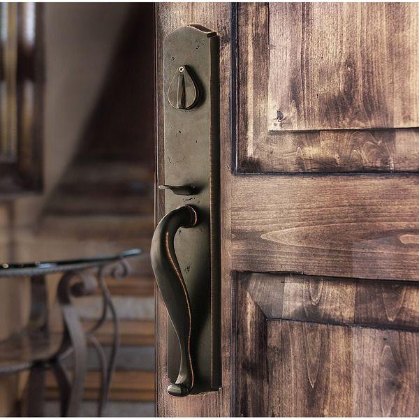 Sure Loc Rustic Bronze Entry Handleset In 2019 Rustic